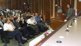חברת הכנסת ושרת החינוך לשעבר יולי תמיר - כנס מורים