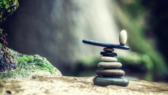 pebbles balanced